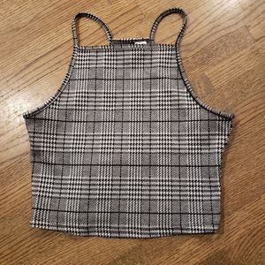 TAKE 50% OFF H&M Divided Plaid Halter Top sz S
